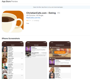ChristianCafe rating by apple
