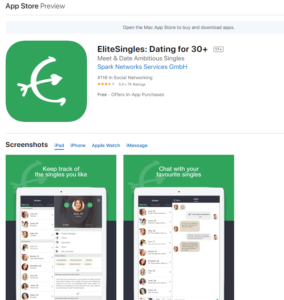 EliteSingles.ca rating by apple store