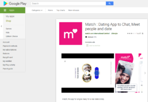 match app rating by google play