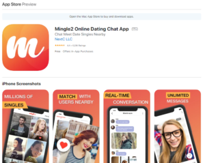 mingle2 rating by apple