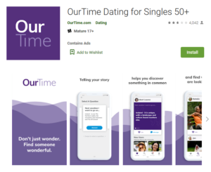 ourtime app google rating