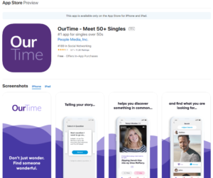 ourtime app apple rating