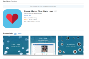zoosk rating by apple