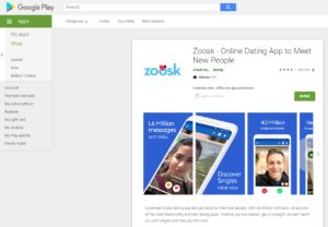 zoosk rating by google